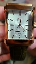 X0 Retro  Rose Tone Rolls Royce  Brown Leather Strap Mint Rare!