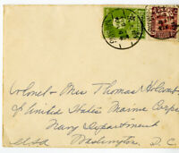 China Stamps Early Cover Postmarked Nanking to Washington DC USA