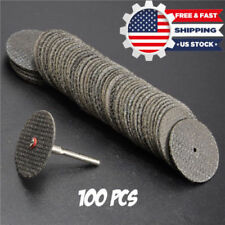 "100Pcs 1/8"" Mandrel Fiber Glass Reinforced Cut Off Wheel Disc Dremel Rotary Tool"