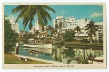 Vintage Postcard Luxurious Hotels, Miami Beach, Florida, Posted 1965
