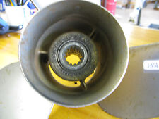 GOOD USED MICHIGAN STAINLESS STEEL PROPELLER #013076. REPLACES  OMC 763929.