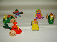 Vintage Sesame Street  Lot 6 PVC Henson Muppets Figures Ernie Bert