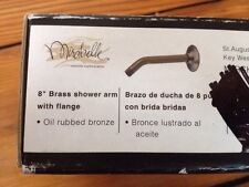 "Mirabelle MIRSK85 8"" Shower Arm Wall Flange Oil Rubbed Bronze"
