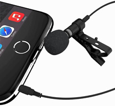 3.5mm jack Mini Microphone for iPhone Android Cell Phone Recording Vlogging