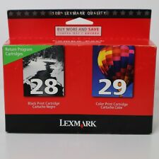 LEXMARK 28 / 29 BLACK and COLOR INK CARTRIDGE Factory Sealed