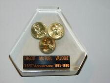 LOT 3 pièce 5 centimes 1986 FRANCS crédit mutuel VALDOIE GIROMAGNY presse papier
