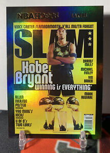2020-21 Kobe Bryant NBA Hoops SLAM Magazine Insert Gold Foil HOLO #19 Lakers