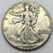 1940-P Walking Liberty Half Dollar 50c Silver Coin (W121)