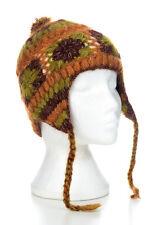 HAND Knitted Invernale di Lana Uncinetto EAR cappello, Taglia unica, unisex ceh9