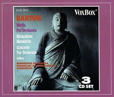 3 CD BOX BARTOK WORKS FOR ORCHESTRA MIRACULOUS MANDARIN CONCERTO ORCHESTRA