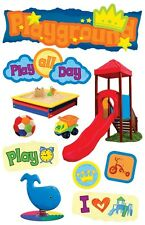 PAPER HOUSE PLAYGROUND CHILDREN KIDS PLAY TIME DIMENSIONAL 3D SCRAPBOOK STICKERS