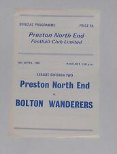 Preston North End -v- Bolton Wanderers 1965-1966