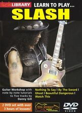Lick Library Learn To Play Slash Rock Ghost Ac/dc Lección De Guitarra Eléctrica Dvd