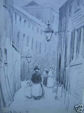LONDON COURT OFF WARDOUR ST  PENCIL ERNEST SUTTON 1907