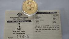 100 Dollars Goldmünze 2000 Australien Olympiade Sydney, Farbmünze pp