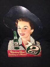 """1950's 18 1/2"""" 2 Way Mixer Soda Sign"""