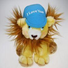 "RUSS I Love You Yellow Blushing Lion Luv Pet Plush Stuffed Animal Cap 7"""