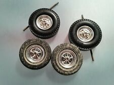 Amt Vintage 1960's Whitewall And Dragster Tires Axles Wheels Parts Lot (Z-76)