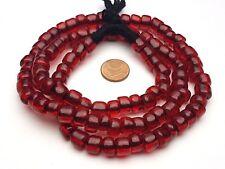 Strand Venezia Murano antica grande Perle vetro Rubino rosso