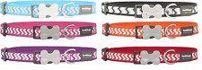 Red Dingo Ziggy Reflective Dog Collar NEW DESIGN Modern Colourful Great Quality
