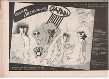 JAPAN (David Sylvian) Obscure Tour 1978 UK Press ADVERT 12x8 inches
