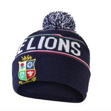 British & Irish Lions Rugby Fleece Lined Bobble Beanie Hat