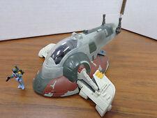 Star Wars Micro Machines Action Fleet SLAVE 1 & Boba Fett Bounty Hunter Figure