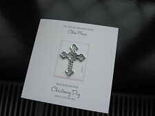Personalised Handmade Christening Card - Girl