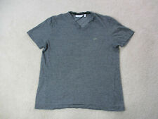 Lacoste Shirt Adult Large Size 5 Black Gray Striped Crocodile Casual Mens