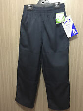 BNWT Boys Sz 14 LW Reid Brand Navy Blue Double Knee Elastic Waist School Pants