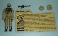 1984 GI Joe Tan Clutch v2 Figure Vamp Mark II Driver File Card *Complete +Extras