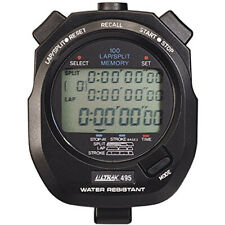Ultrak 495 - 100 Dual Split Memory Stopwatch - Black