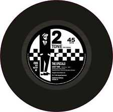 """Ska Two Tone Printed Exterior Vinyl 7"""" 178mm Decals The Specials Ghost Town x 2"""