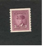 Canada SC #266  King George VI War issue MH 3 cent stamp VF