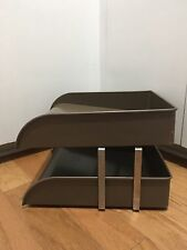 Vintage MCM Office Supplies! CW Systems Desk Paper Two Tier TRAY Organizer!