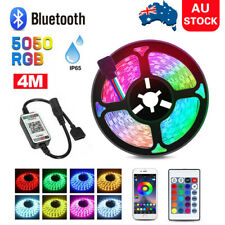 RGB LED Strip Lights 4M IP65 Waterproof 5050 180 LEDs 12V + Bluetooth Controller