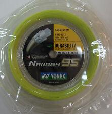 YONEX Nanogy 95 NBG95 x 200 m coil Badminton String, Flash Yellow Colour