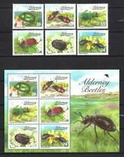 Alderney Aurigny 2013 insectes scarabées bloc et série neuf ** 1er choix