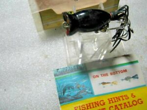 Rare Vintage Fred Arbogast Hula Popper Topwater Lure Lures NIB W/ Paper Catalog