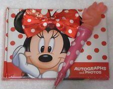 Disney World Resort Minnie Autograph Book & Matching Light Up Pen FREE SHIPPING
