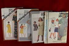 Lot of 4 Mixed Vintage Clothing Patterns