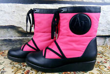 ARMANI JEANS Damen 39 trendige Winter Boots Stiefel Pink Stiefeletten Schuhe #E9
