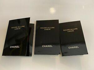 (3) Chanel Rouge Allure Laque Ultrawear Shine Liquid Lip Colour 80 Timeless Samp