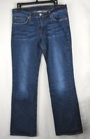 Lucky Brand Dungarees Women's Jeans Size 12/31 Mid Rise Flare Blue Denim