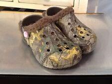 8a9f1e04a Crocs 15799 Baya Lined Realtree Clog Chocolate US Toddler Sz C10 11