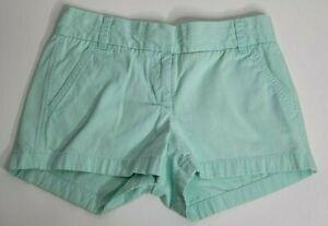 J. Crew Womens Size 00 Chino Shorts Seafoam Blue Green