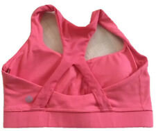 LULULEMON 50 Rep Sports Bra w Pads Flash Coral size 4  Gym Yoga Run Dance Spin