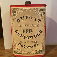 Dupont Paper Label Fffg Gunpowder Tin Can Wilmington Delaware July 1924 No 23752