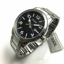 Men's Citizen Stainless Steel Quartz Black Dial Watch BI1020-57E