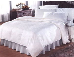 Oversized and Overstuffed White Goose Down Comforter - Open Box Clearance